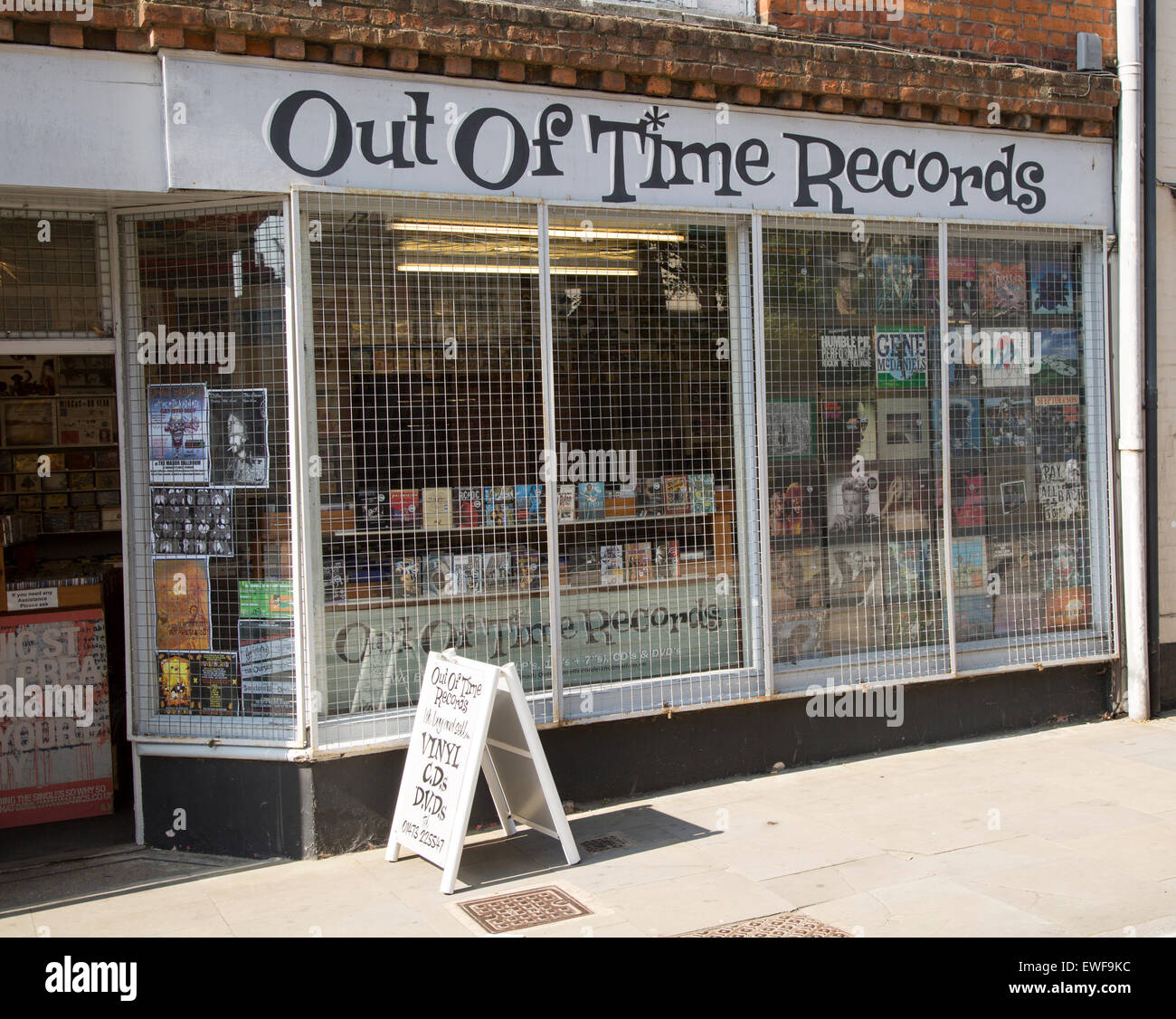 Secondhand record shop, Ipswich, Suffolk, England, UK - Stock Image