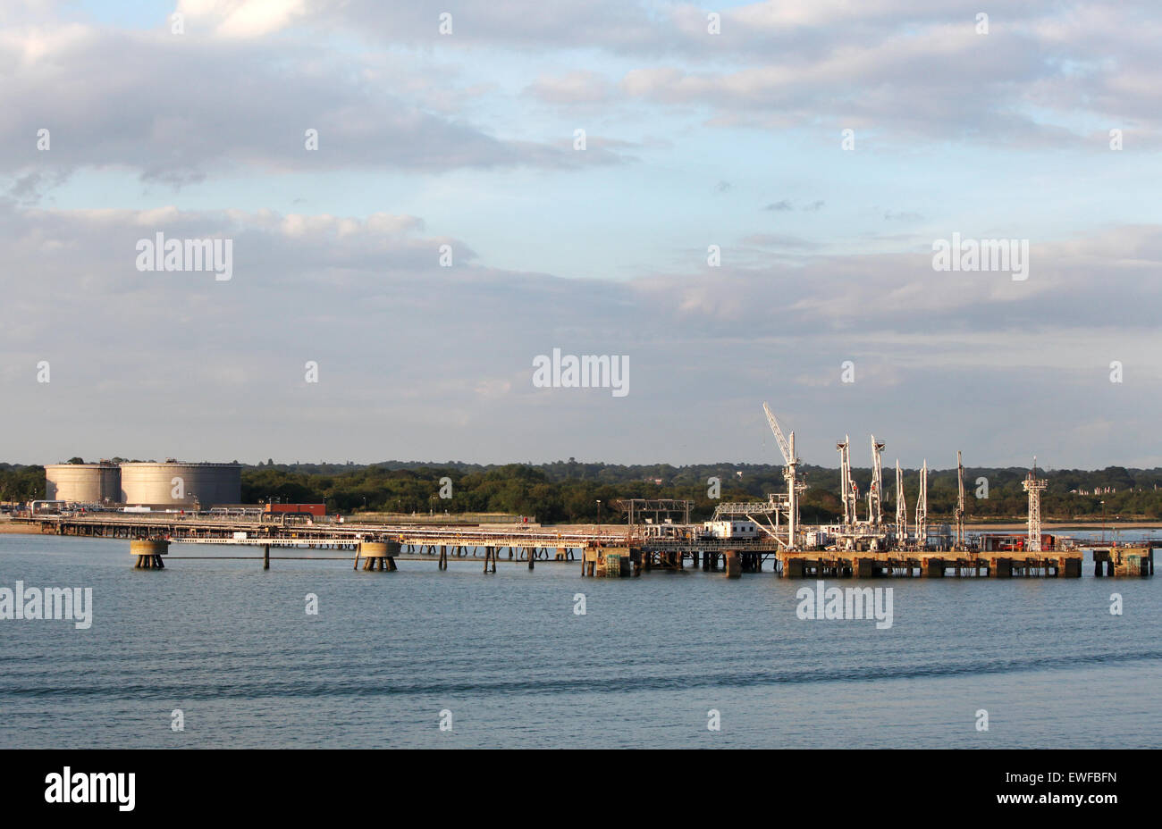 BP Hamble Oil Terminal Hampshire UK - Stock Image