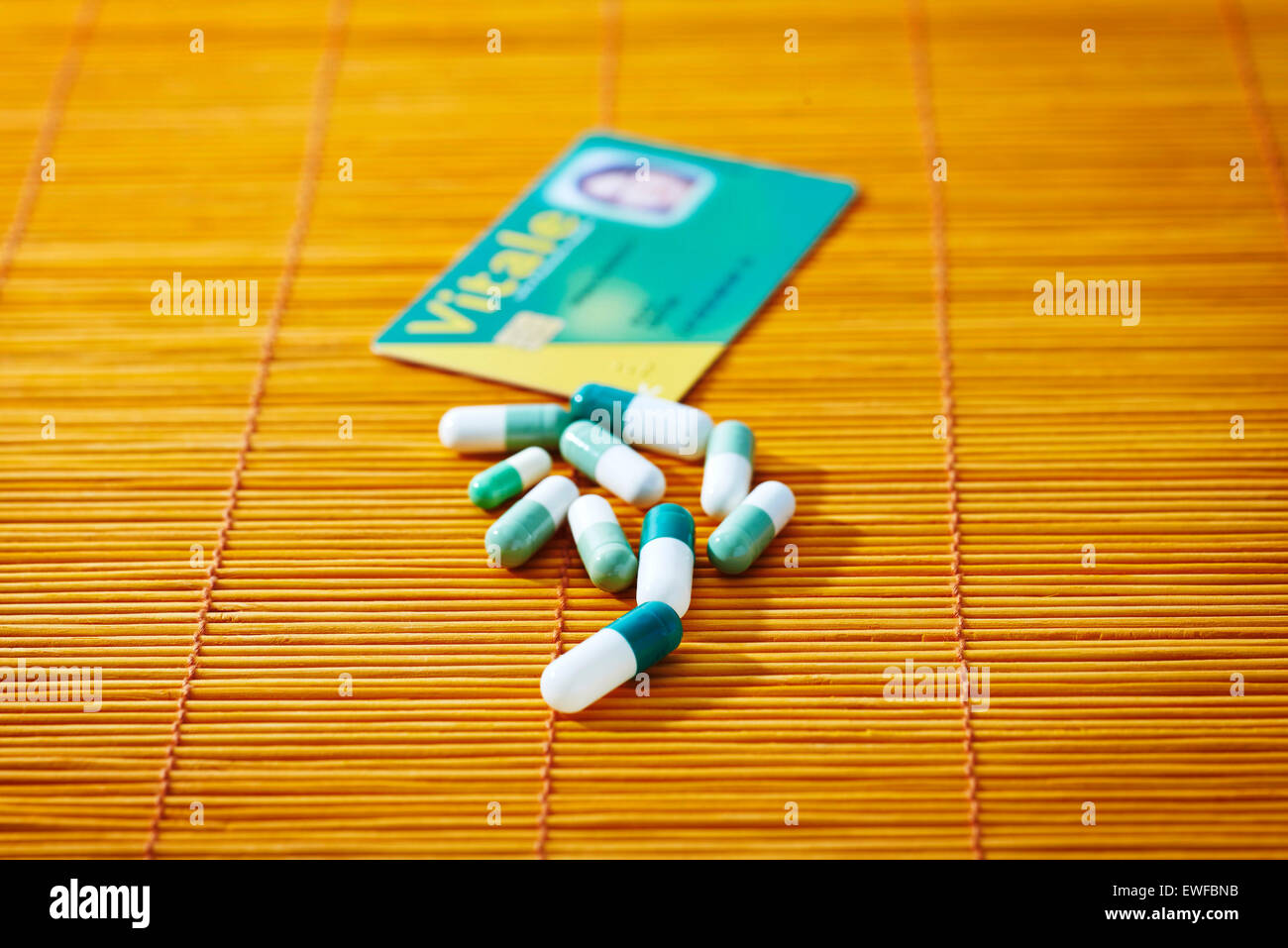 NATIONAL HEALTH SERVICE CARD - Stock Image