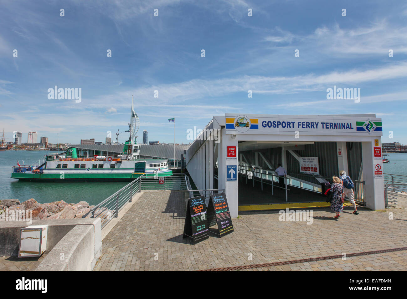 Gosport Ferry Terminal, Gosport, UK - Stock Image