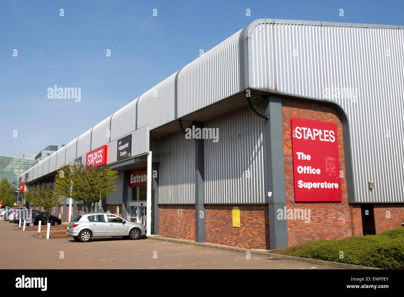 Staples office superstore, Ipswich, Suffolk, England, UK - Stock Image