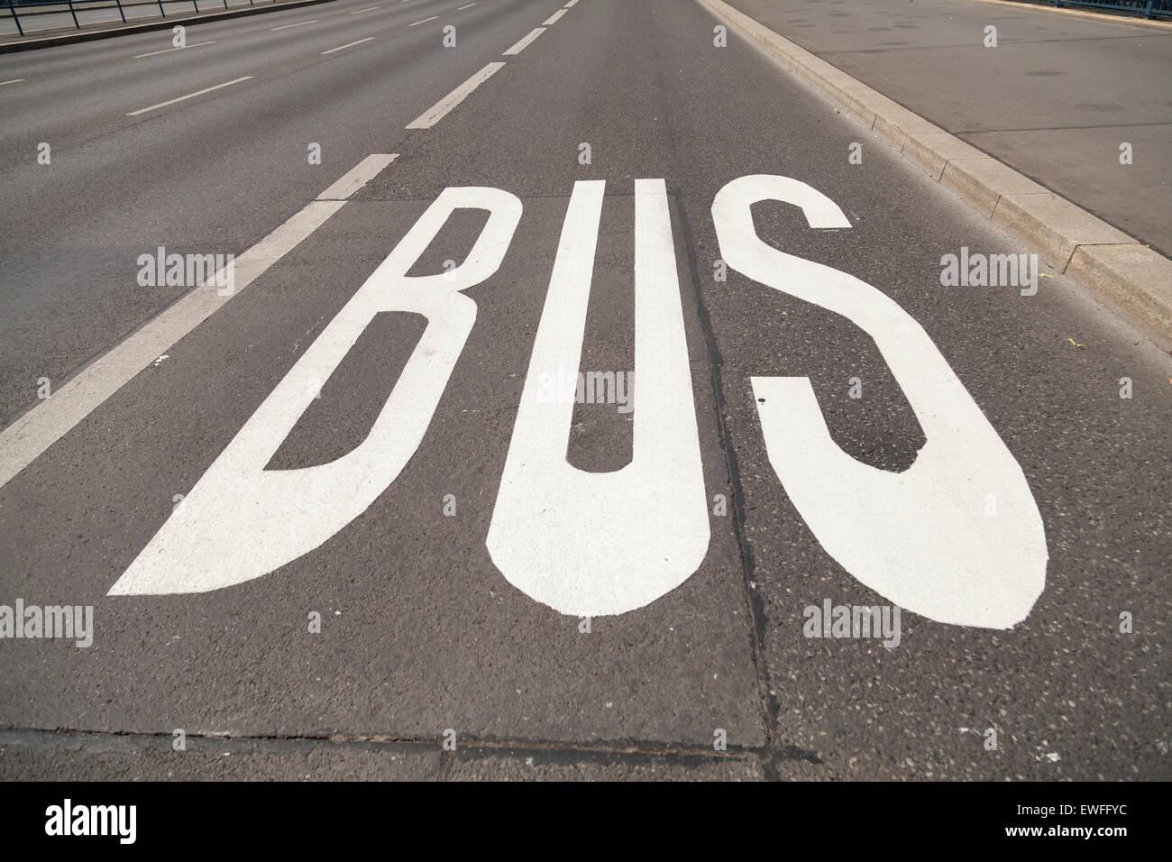 Bus lane Stock Photo
