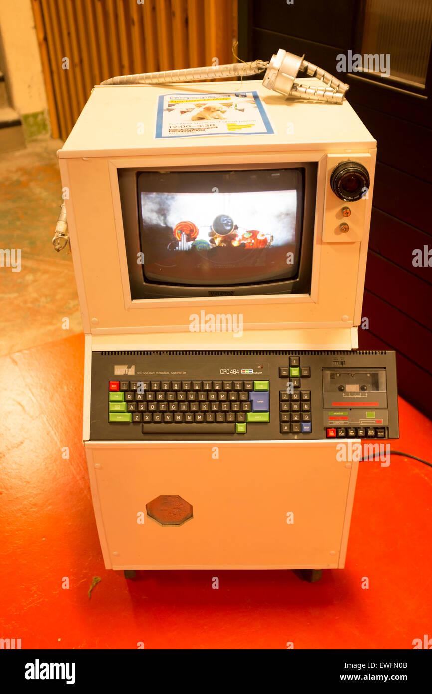 Vintage Amstrad CPC464 Colour Personal Computer - Stock Image