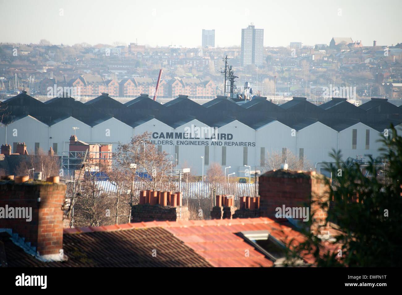 Cammel Laird Shipbuilders Ship Builders River Mersey Birkenhead Liverpool - Stock Image