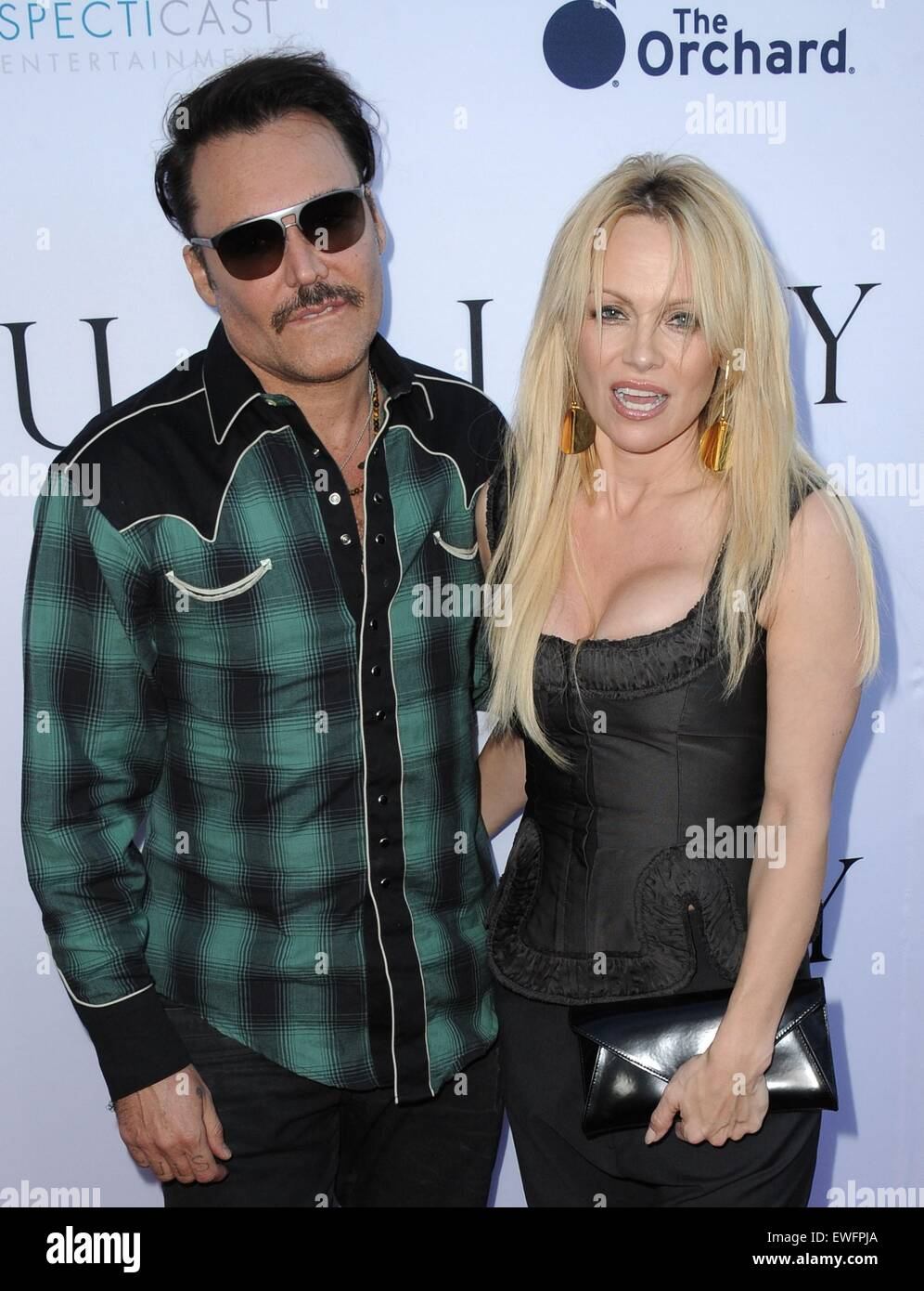 Los Angeles, California, USA. 24th June, 2015. David LaChapelle, Pamela Anderson at arrivals for UNITY Premiere, - Stock Image