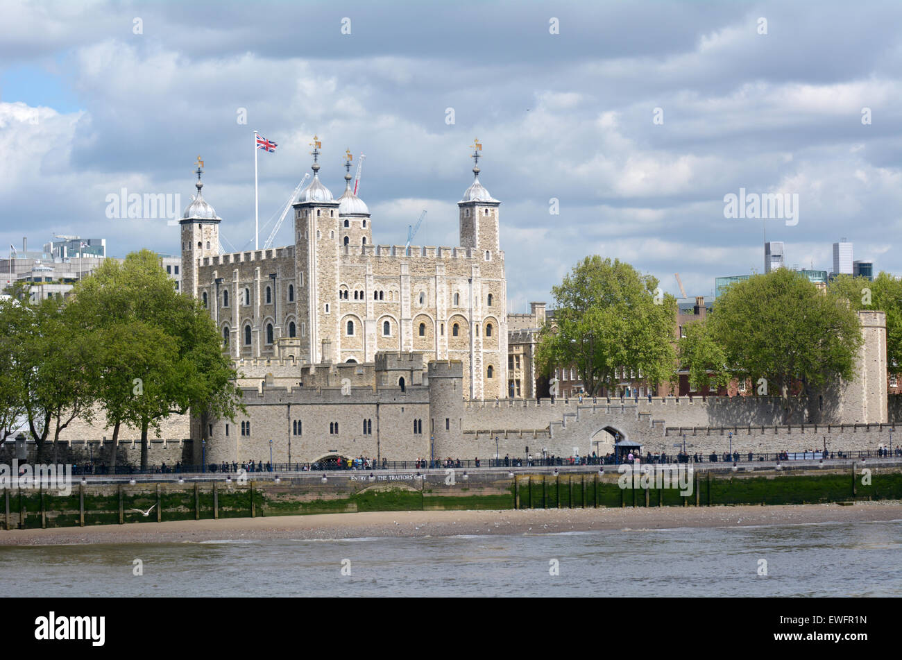 LONDON, UK - MAY 13 2015:The Tower of London in City of London, UK.There are 911 World Heritage Sites worldwide. - Stock Image