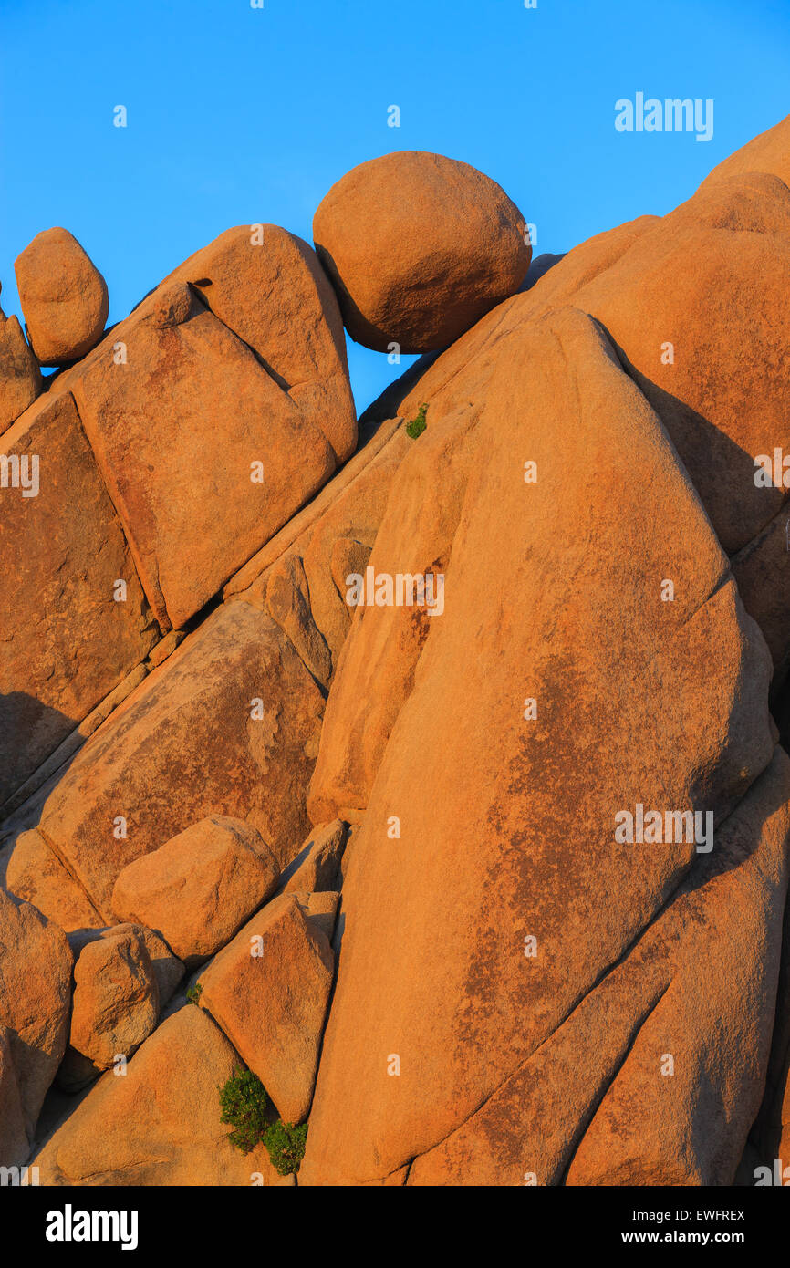 Jumbo Rocks in Joshua Tree National Park, California, USA. - Stock Image
