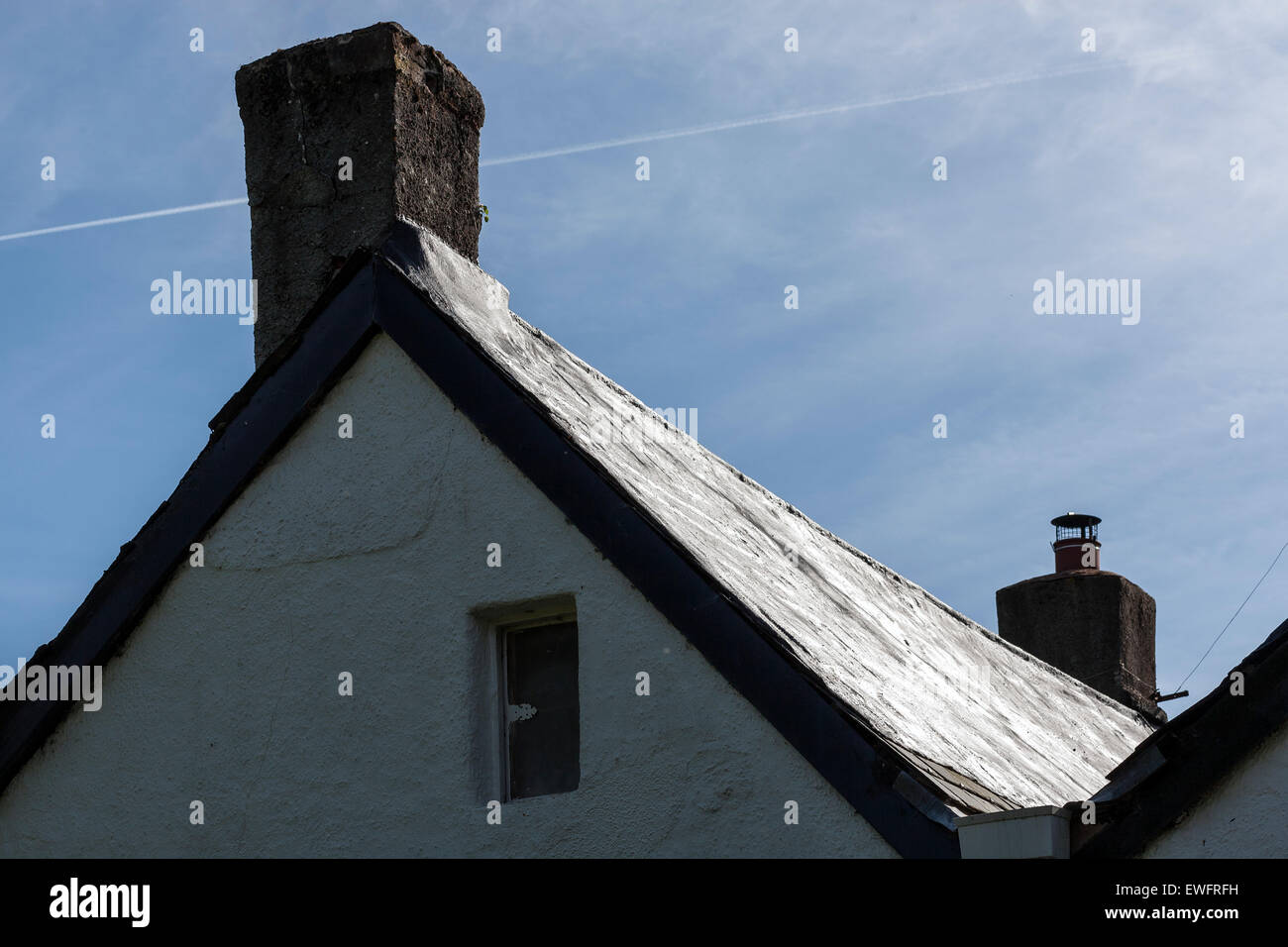 When roofs have started to leak or deteriorate you can have them fixed using a process called Turnerising. This - Stock Image