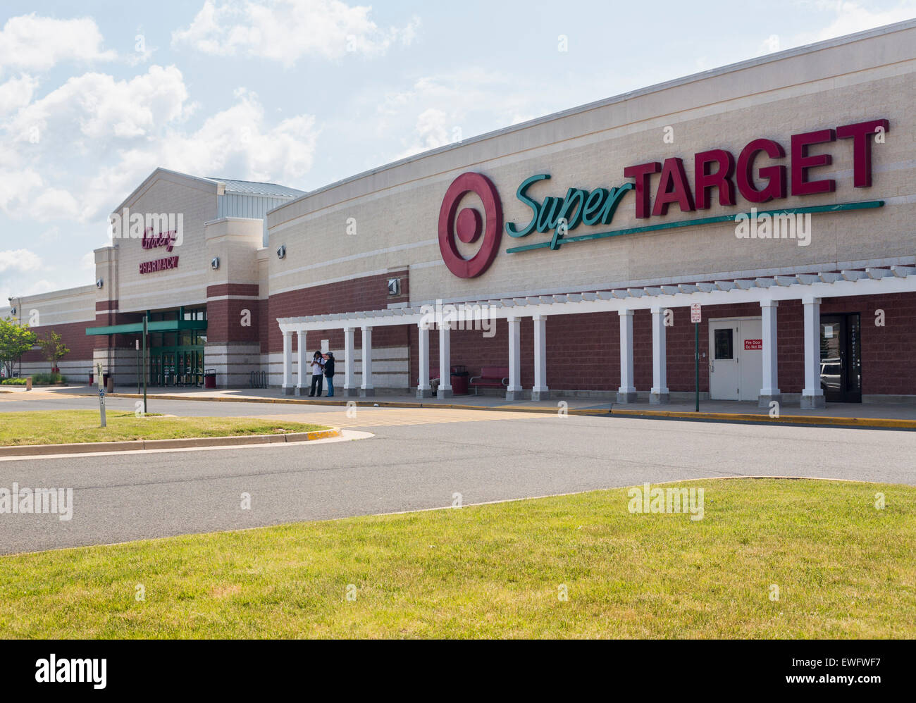 Entrance To Large Super Target Food Supermarket In Gainesville Virginia USA