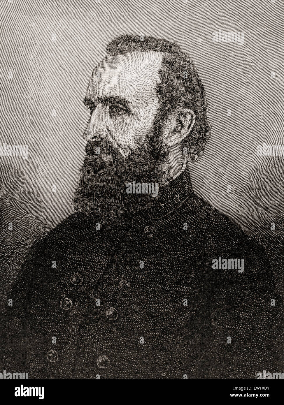 Thomas Jonathan 'Stonewall' Jackson, 1824 –1863.  Confederate general during the American Civil War. - Stock Image