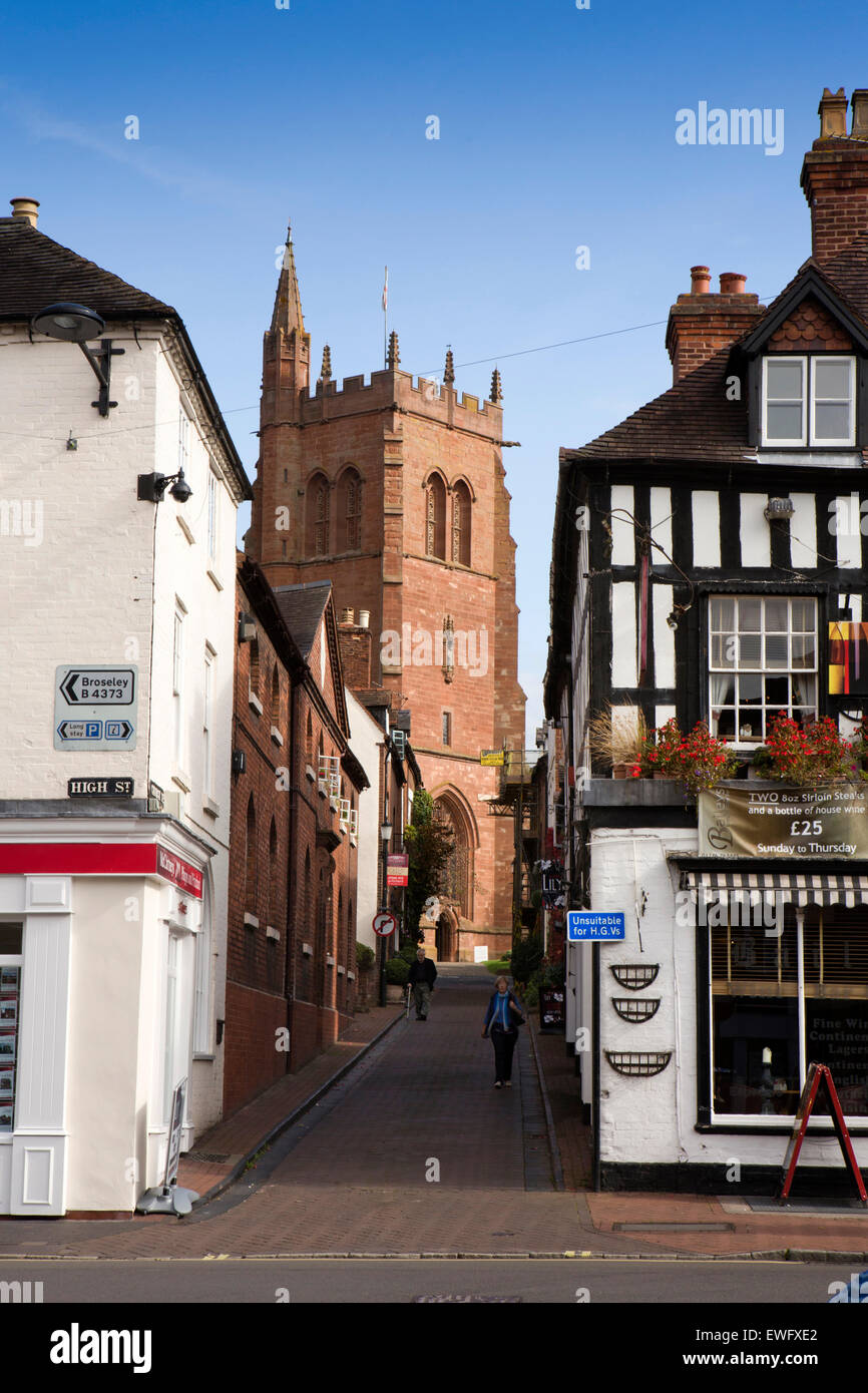 UK, England, Shropshire, Bridgnorth, Church Street, and St Lawrence's redundant church - Stock Image