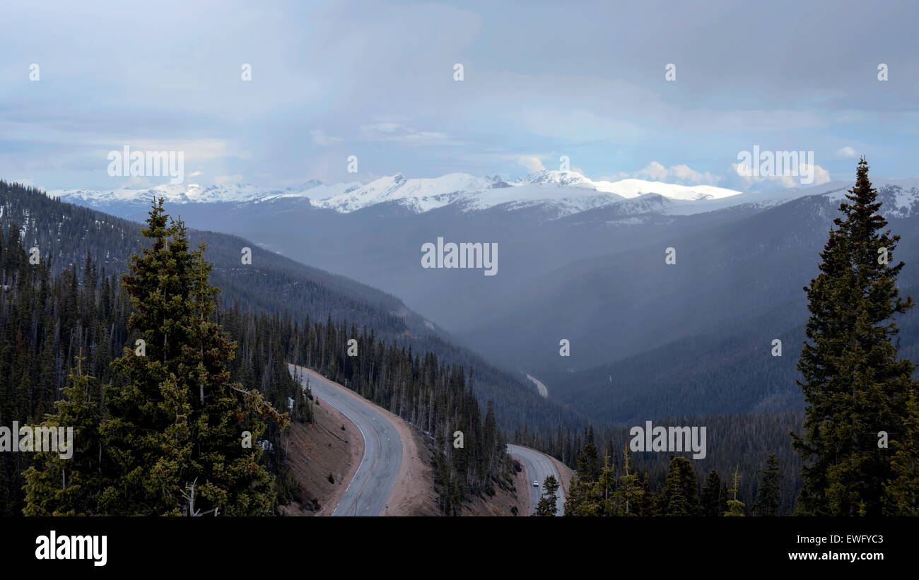 The road in the mountains of Colorado, USA, North America - Stock Image