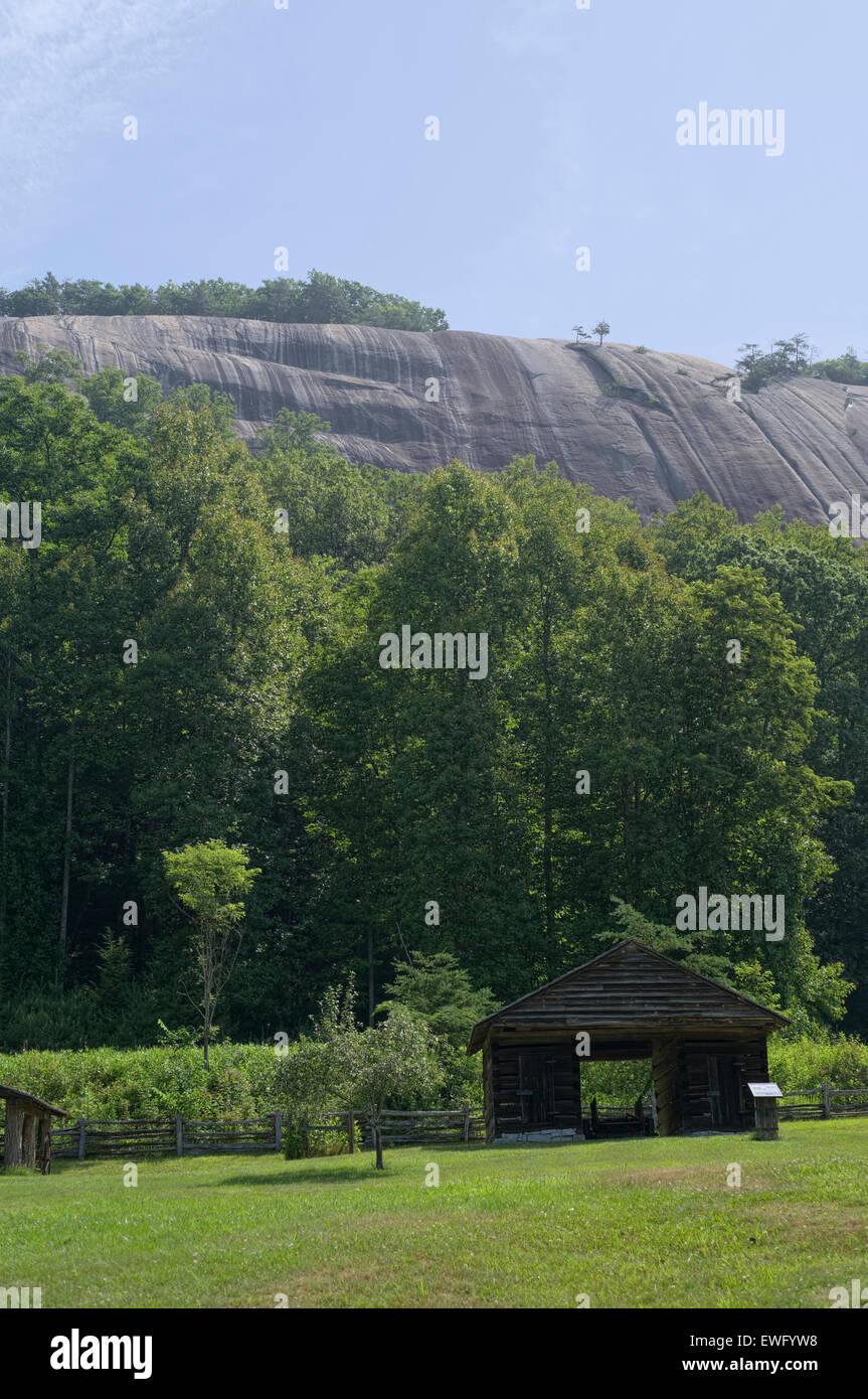 Hutchinson Homestead at Stone Mountain State Park in Roaring Gap North Carolina. Mountain homestead. - Stock Image