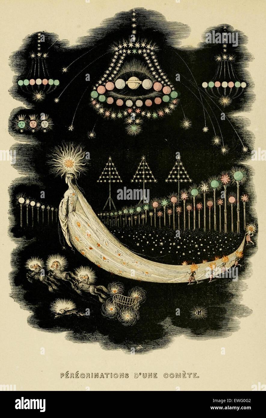 Image from J J Grandville's Un Autre Monde (1844) - Stock Image