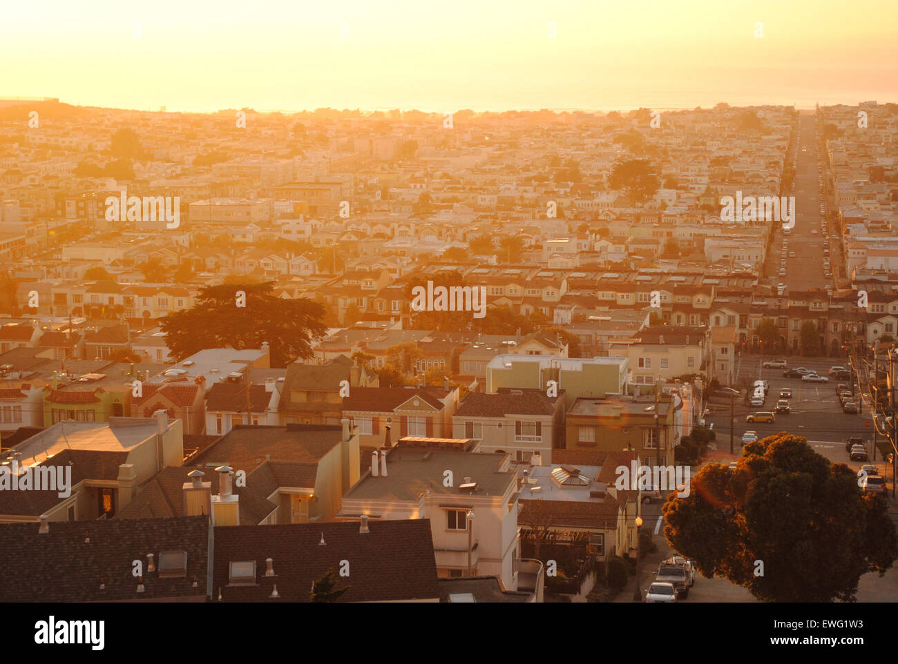 Residential Homes in Cityscape - Stock Image