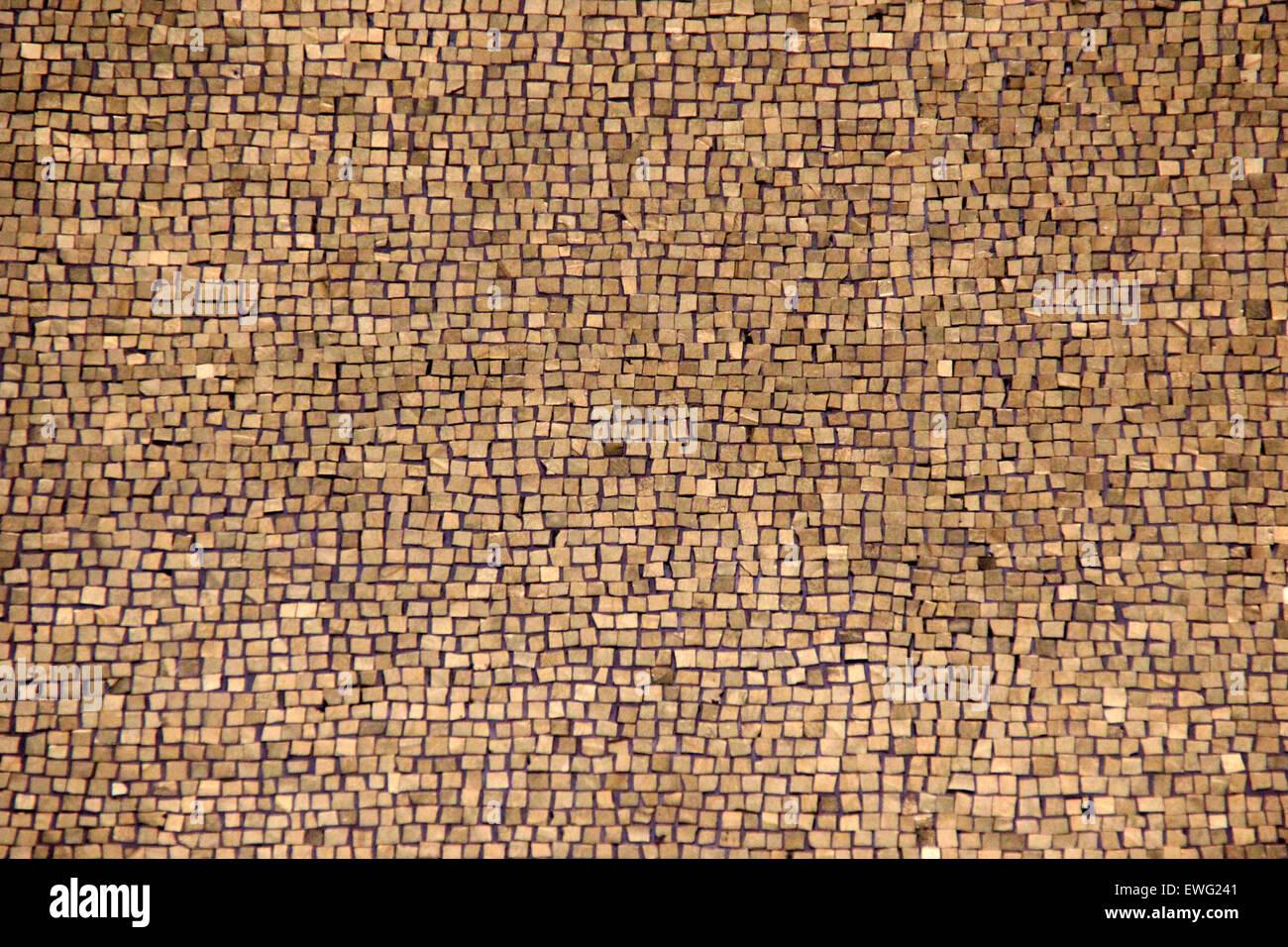 Wood Mosaic Pattern - Stock Image