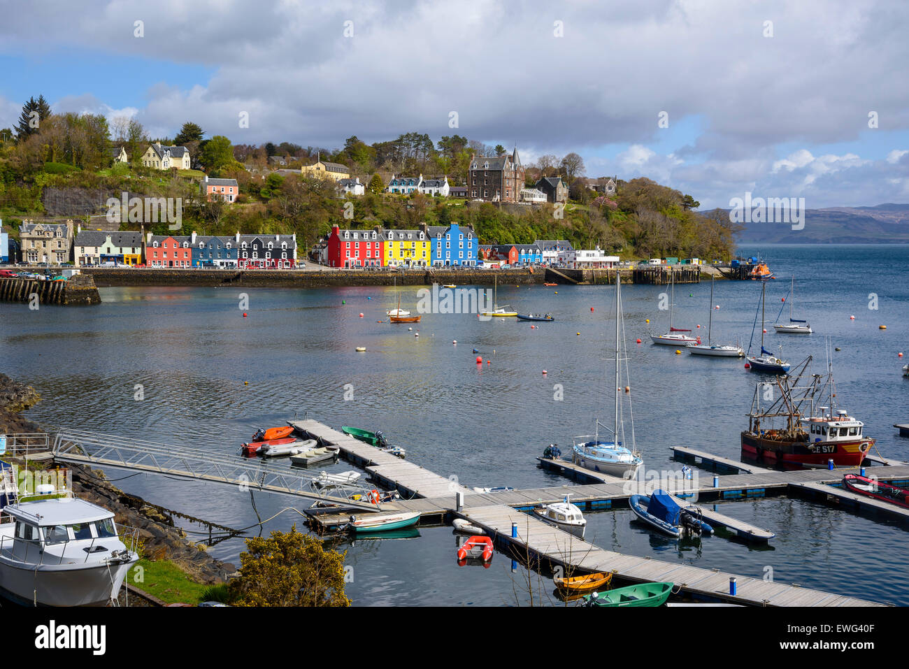 Tobermory harbour, Isle of Mull, Hebrides, Argyll and Bute, Scotland - Stock Image