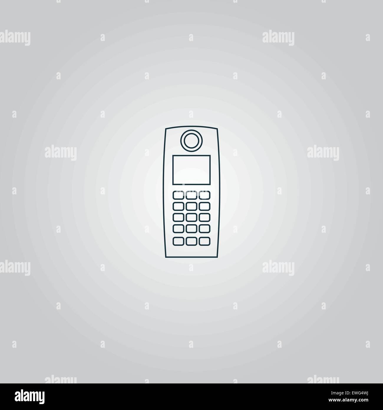 Retro mobile phone icon - Stock Vector