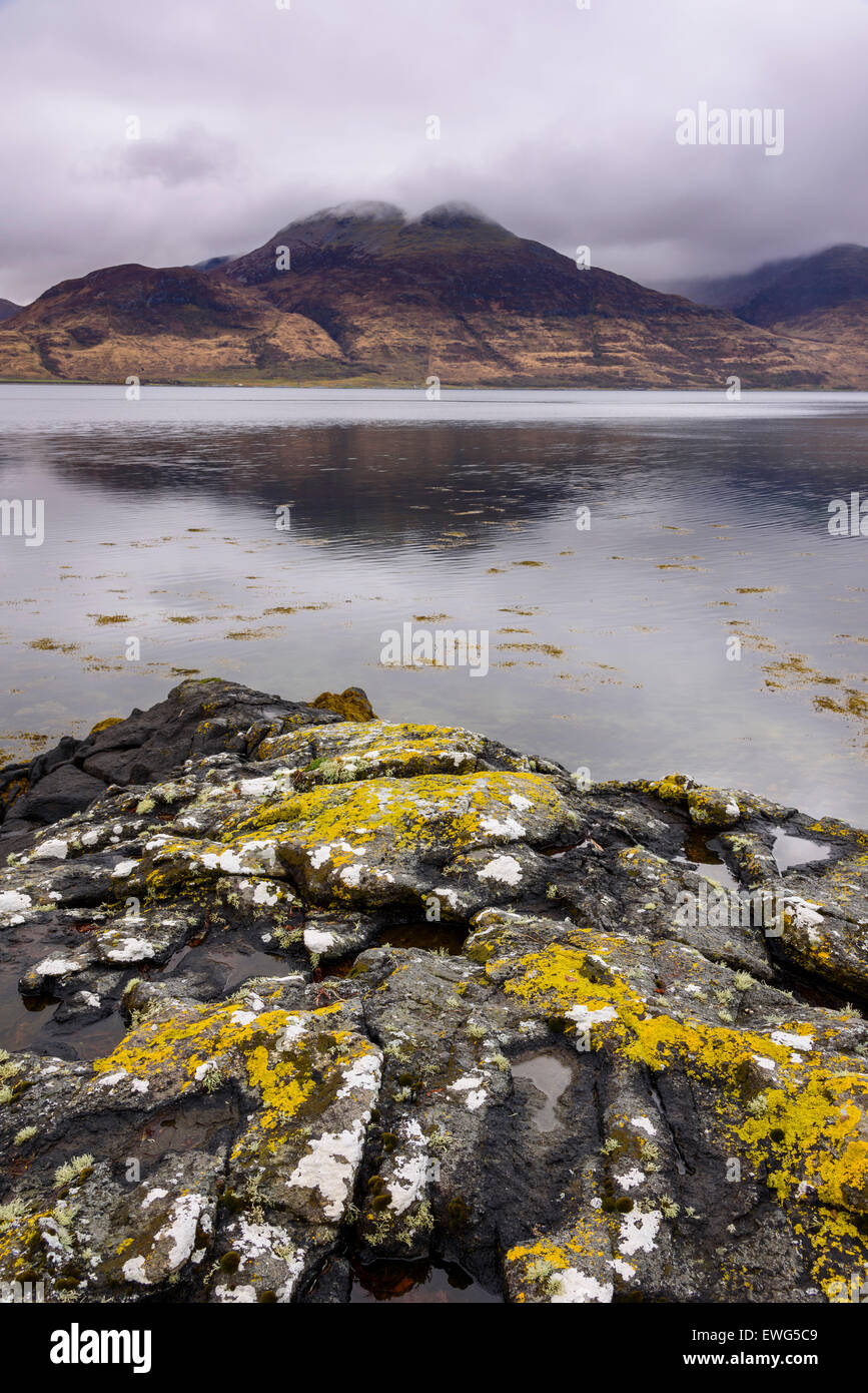 Loch na Keal, near Kellan, Isle of Mull, Hebrides, Argyll and Bute, Scotland - Stock Image