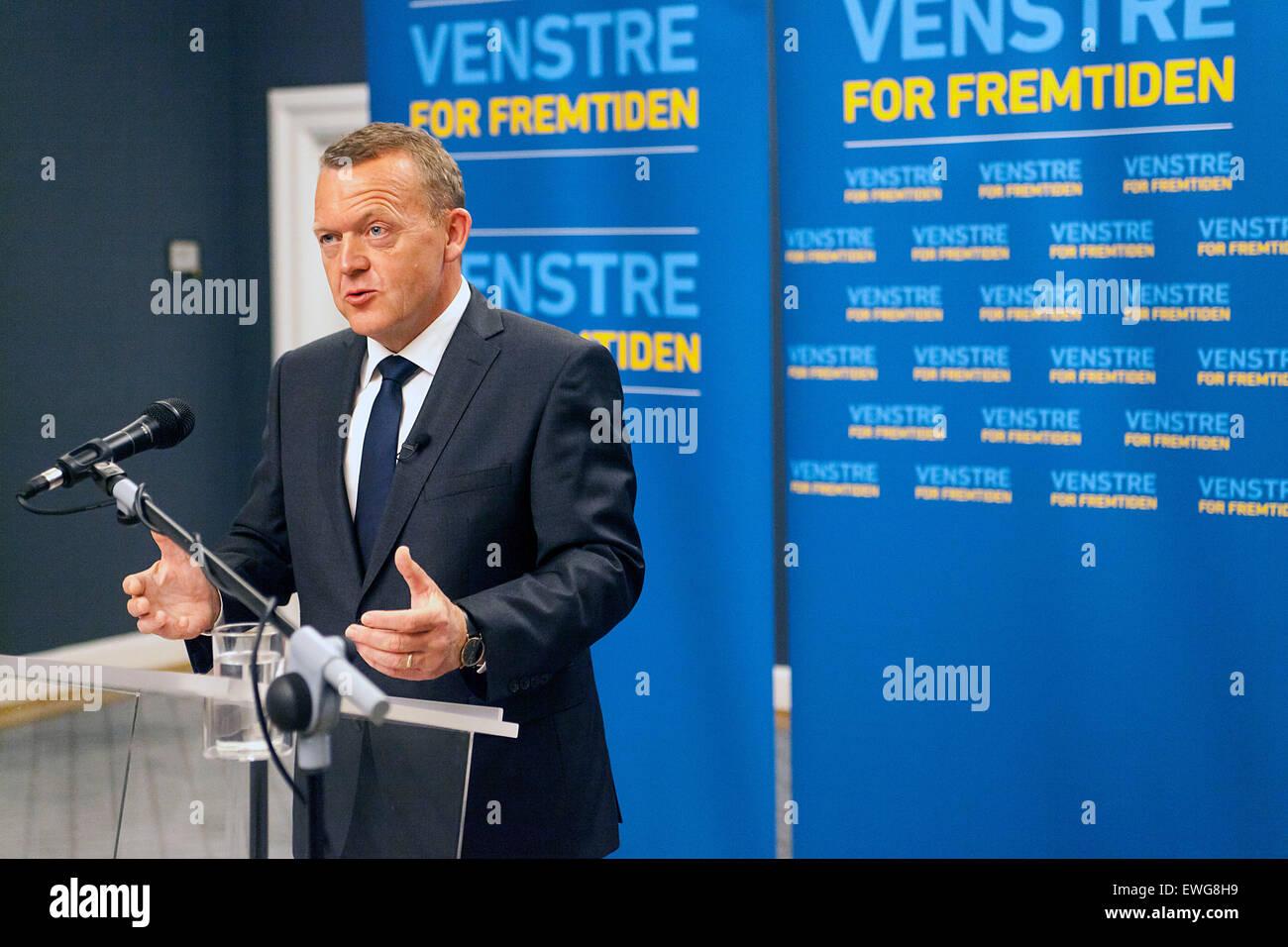 Copenhagen, Denmark, June 17th, 2015: Danish opposition leader, Lars Loekke Rasmussen (Venstre, read: The Liberal's) Stock Photo