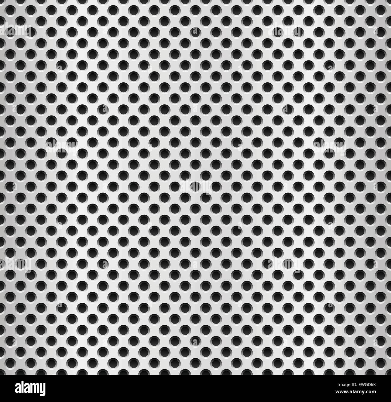 Seamless Metal Swatch Perforated Metal Pattern With Black