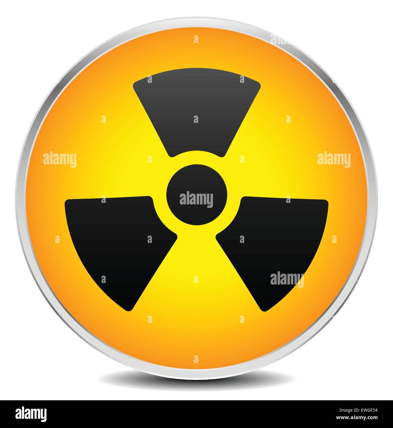 Simple radiation, radioactivity sign. Eps 10 vector illustration. - Stock Image
