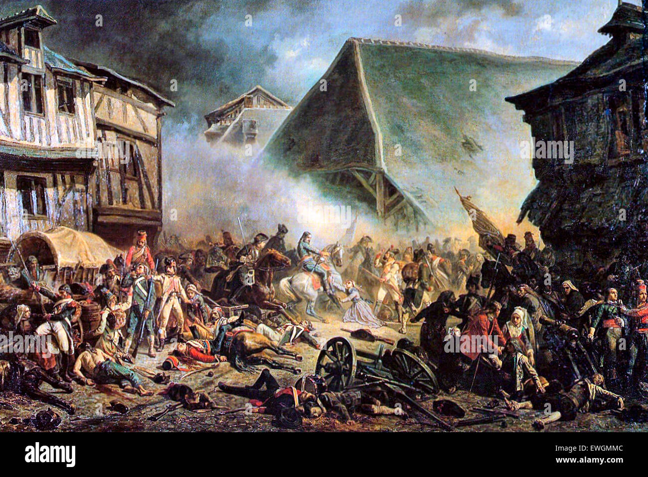 The Battle of Le Mans was a battle of the War in the Vendée. It resulted in the rout of the Vendéen forces - Stock Image
