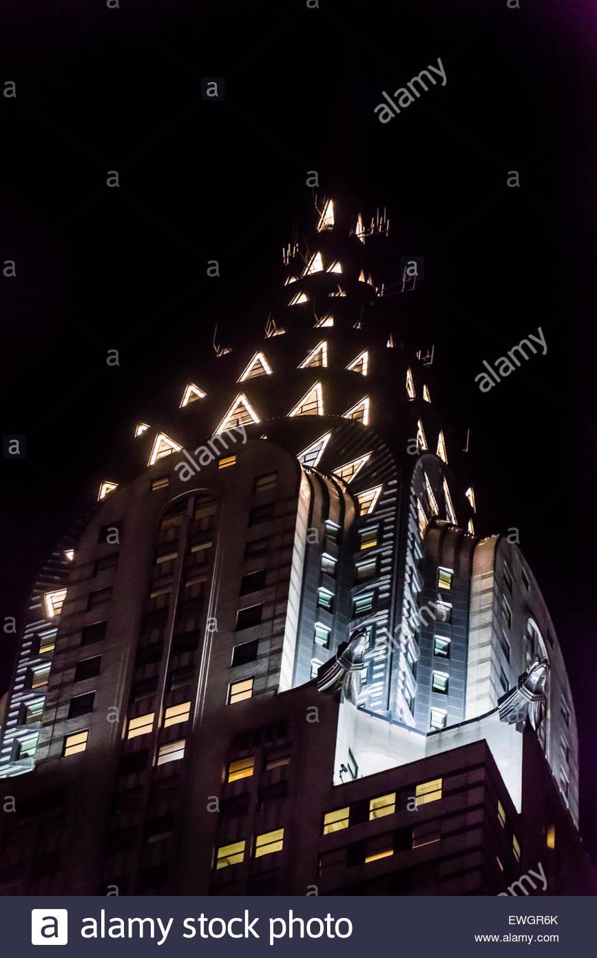 The iconic art deco Chrysler Building, New York, New York USA. - Stock Image