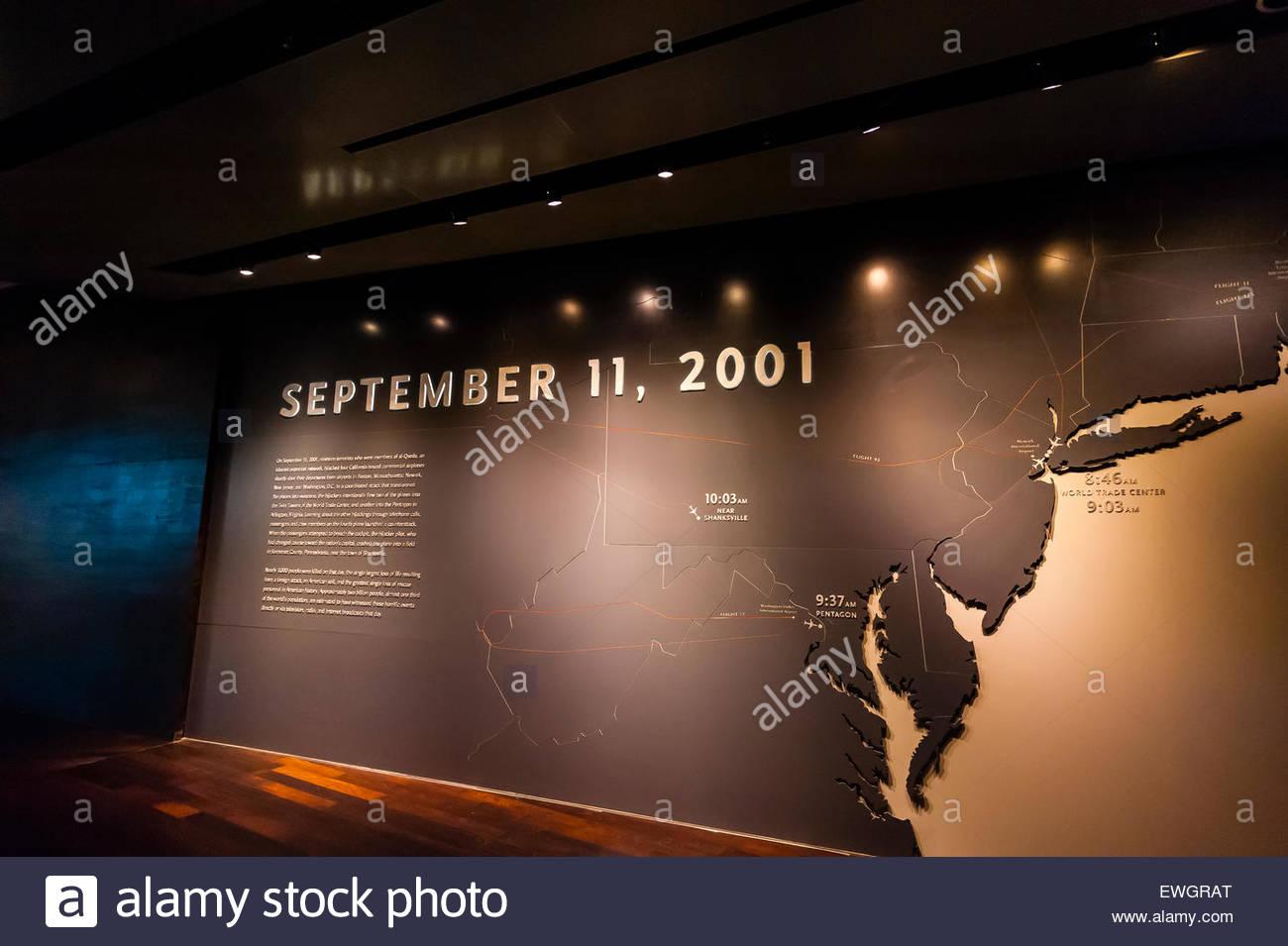 National September 11 Memorial & Museum, New York, New York USA. - Stock Image