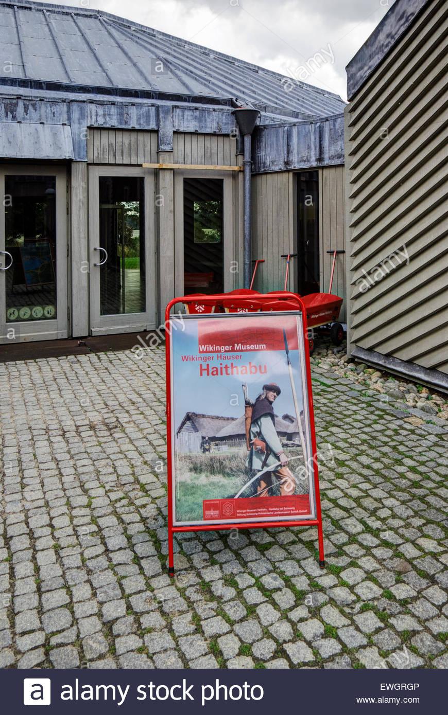 Entryway of Wikinger Museum, Haithabu - Stock Image
