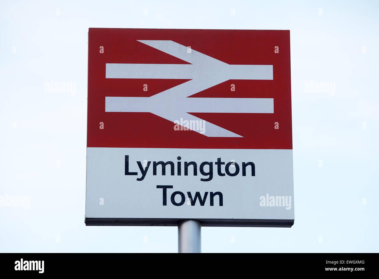 Lymington Railway Station, Lymington, Hampshire - Stock Image