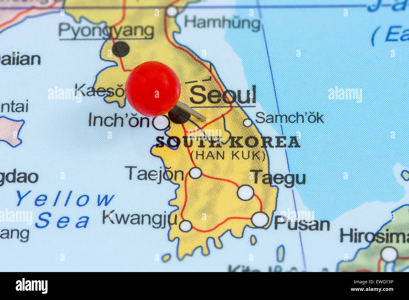 Image of: Map South Korea High Resolution Stock Photography And Images Alamy