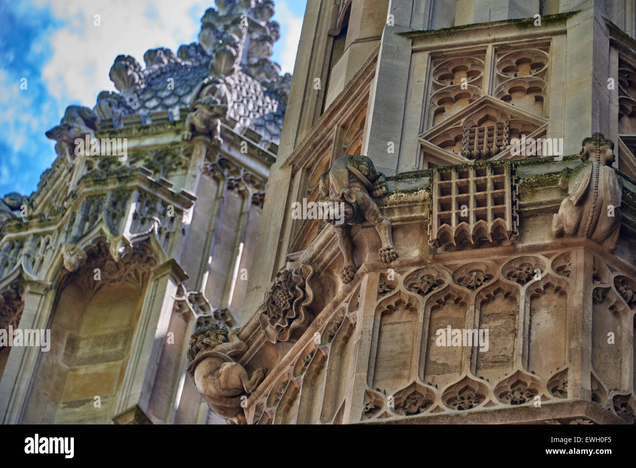 Westminster Abbey, at Westminster, is a Gothic church in the City of Westminster, London - Stock Image