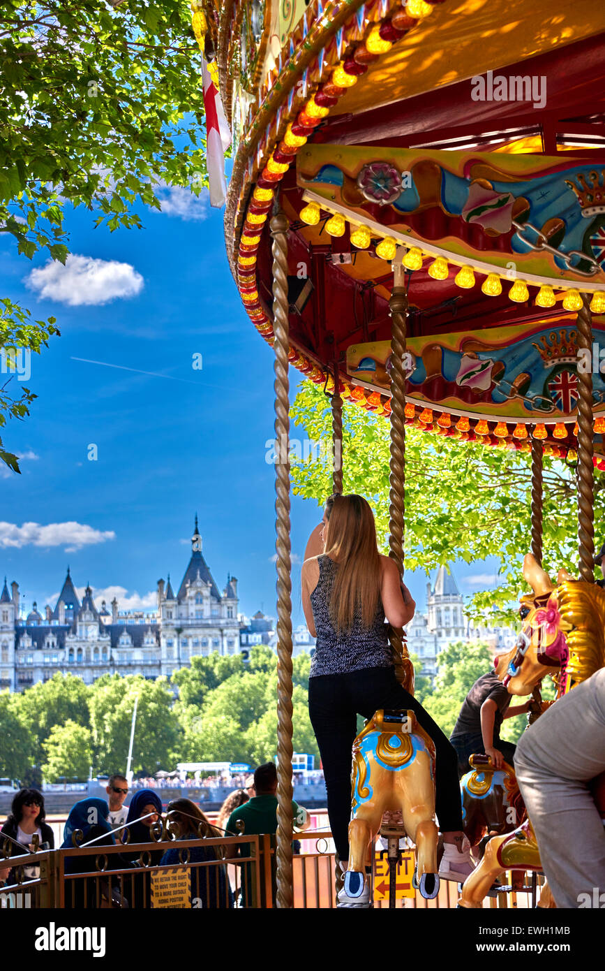 Jubilee Gardens Public Park on the South Bank in the London Borough of Lambeth. - Stock Image