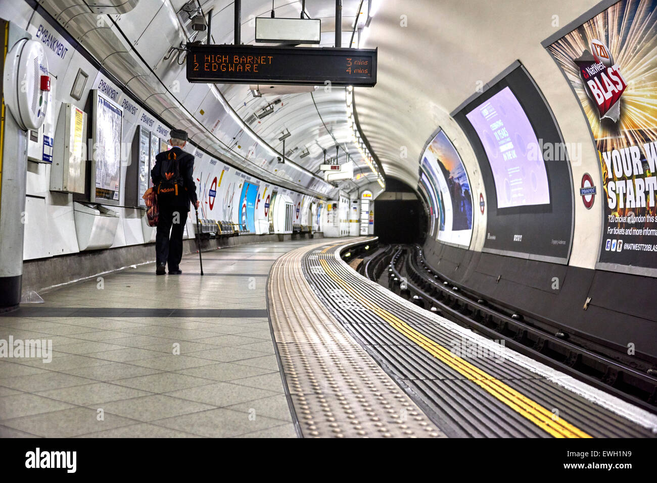 Embankment is a London Underground station in the City of Westminster, known by various names during its history. - Stock Image