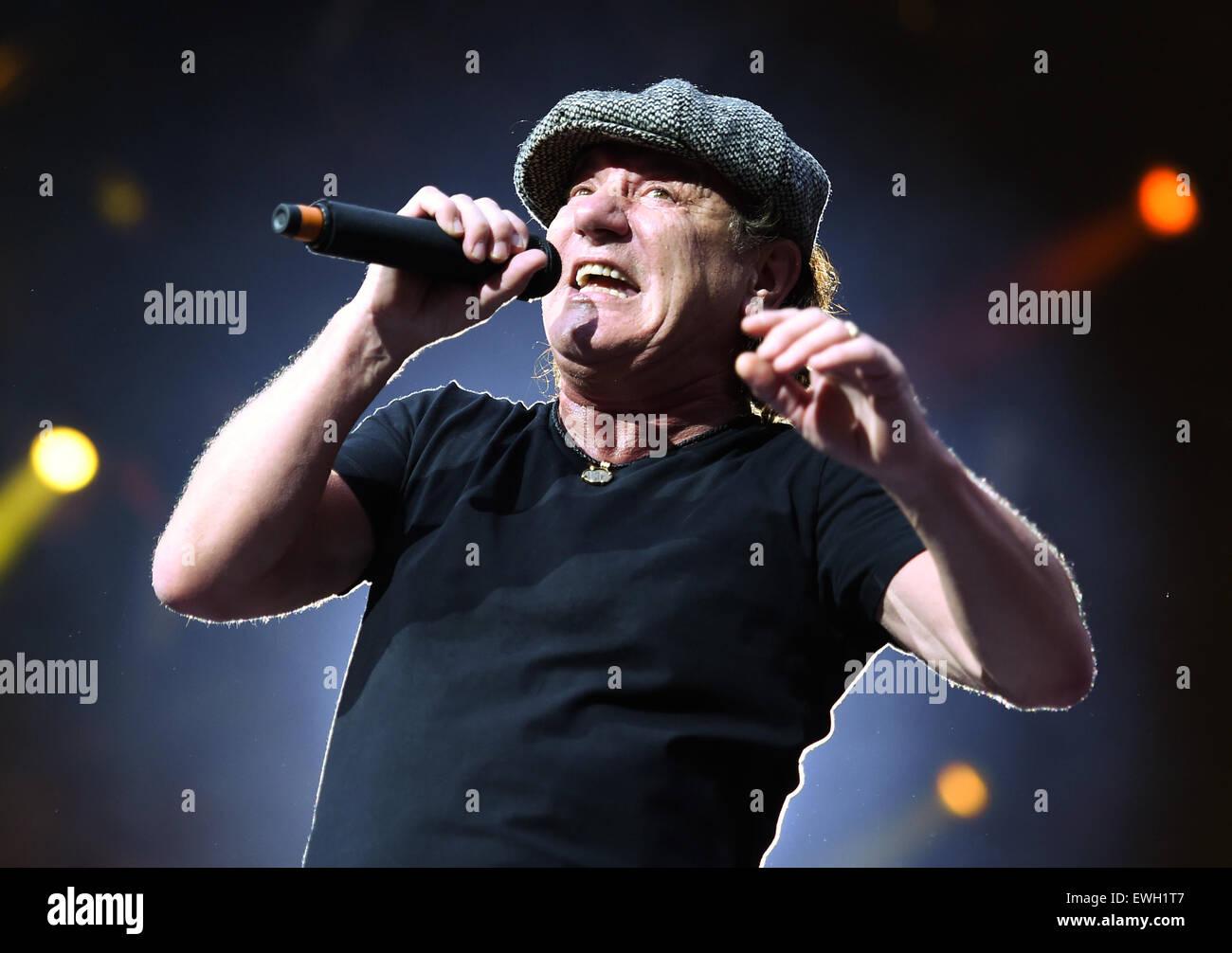 Berlin Germany 25th June 2015 Singer Brian Johnson Of Australian