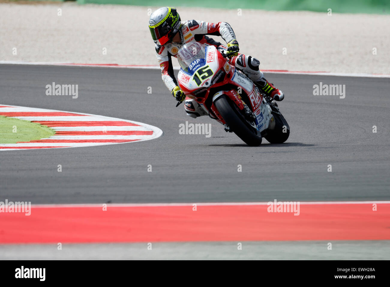 Misano Adriatico, Italy - June 20: Ducati Panigale R of Althea Racing Team, driven by BAIOCCO Matteo Stock Photo