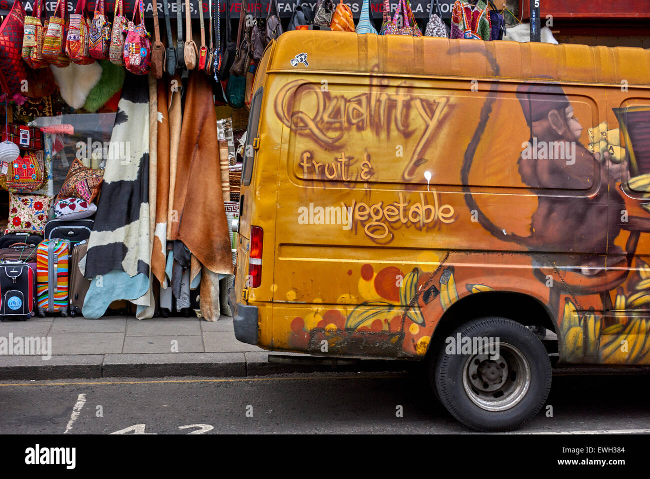 Portobello Road in the Notting Hill district of the Royal Borough of Kensington and Chelsea in west London Stock Photo