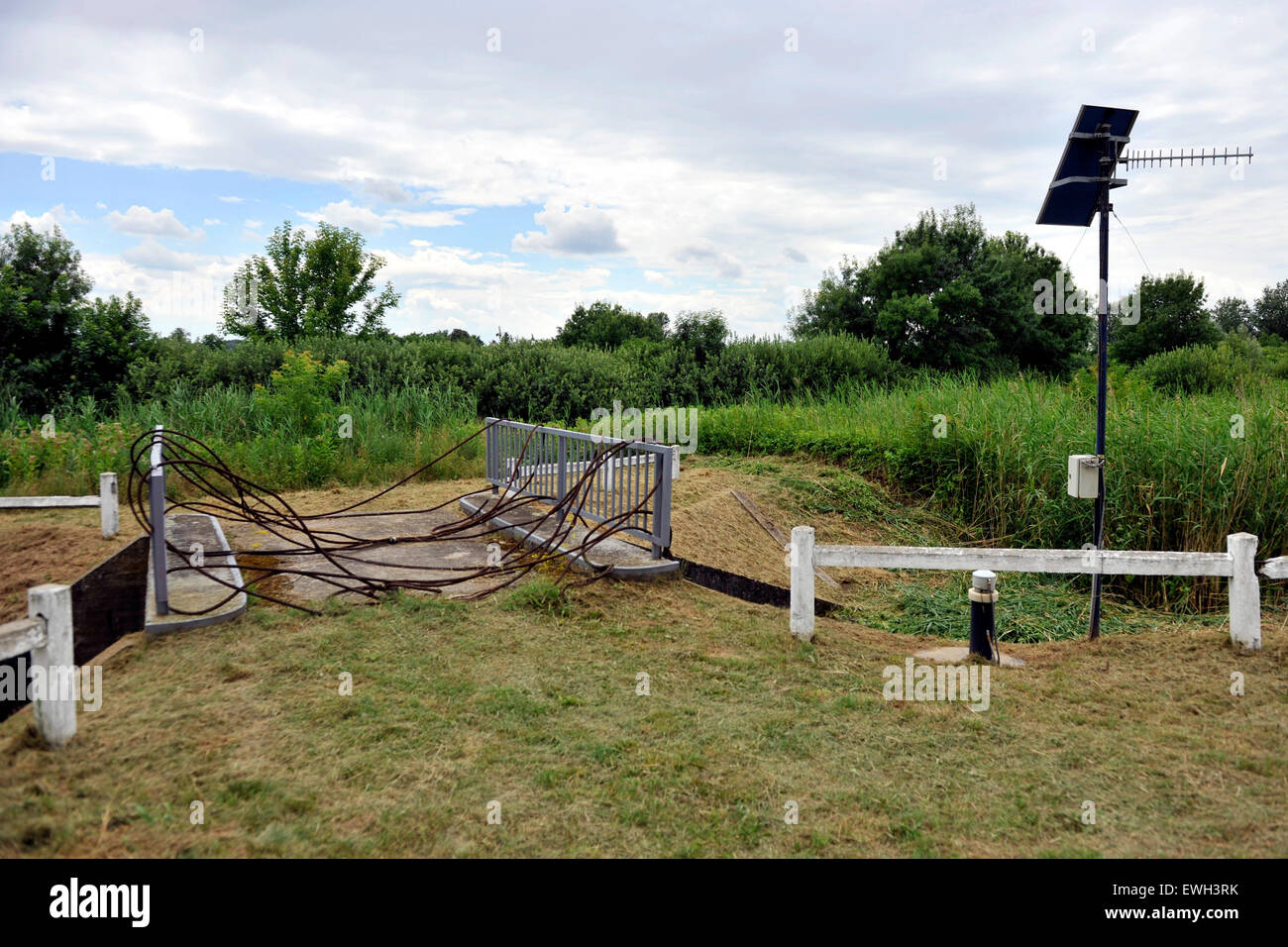 Asotthalom, Hungary. 25th June, 2015. The Hungarian Serbian border area near Asotthalom, Hungary, June 25, 2015. - Stock Image