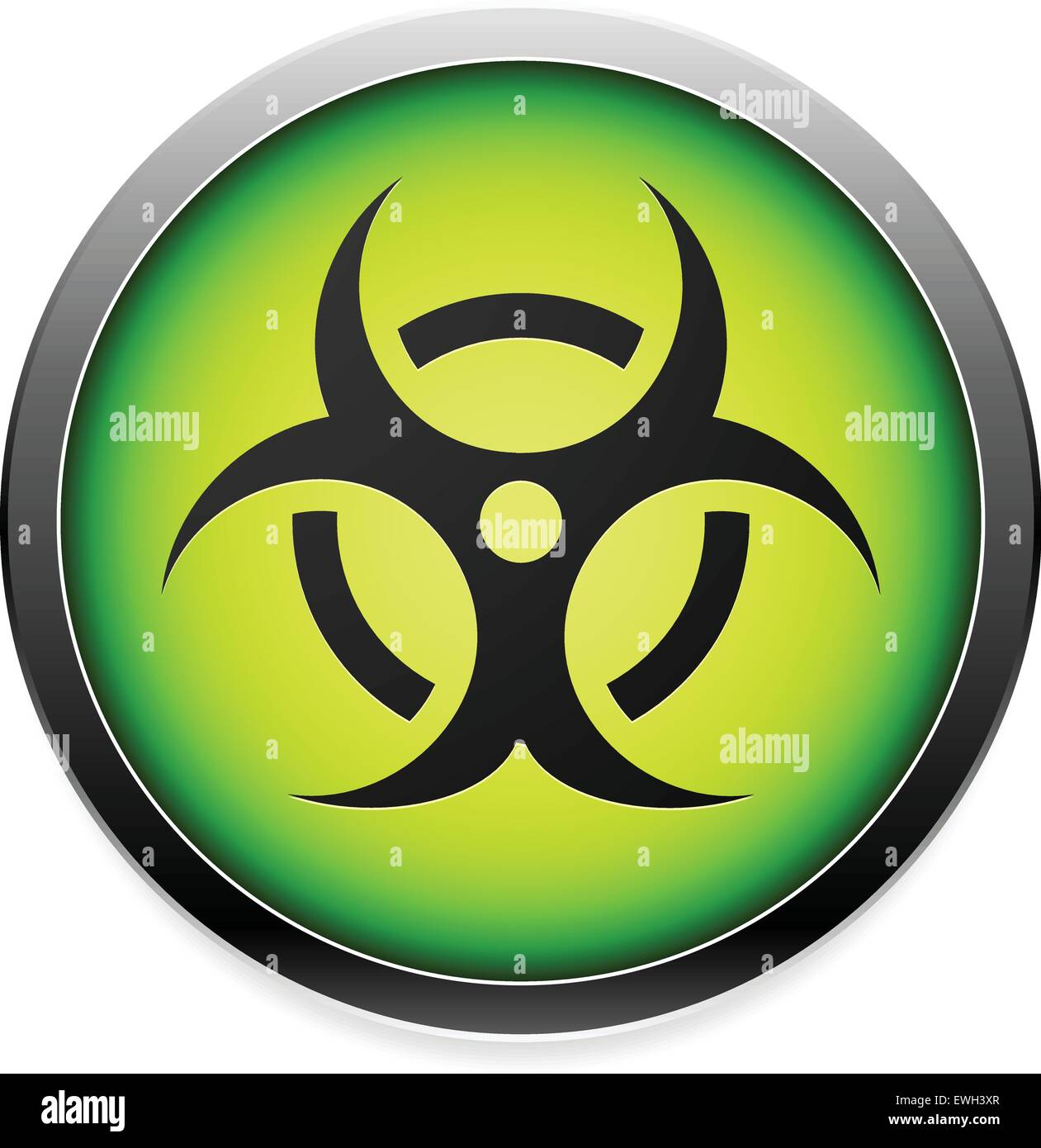 Quarantine Contamination Bio Hazard Symbol Sign Icon In Green