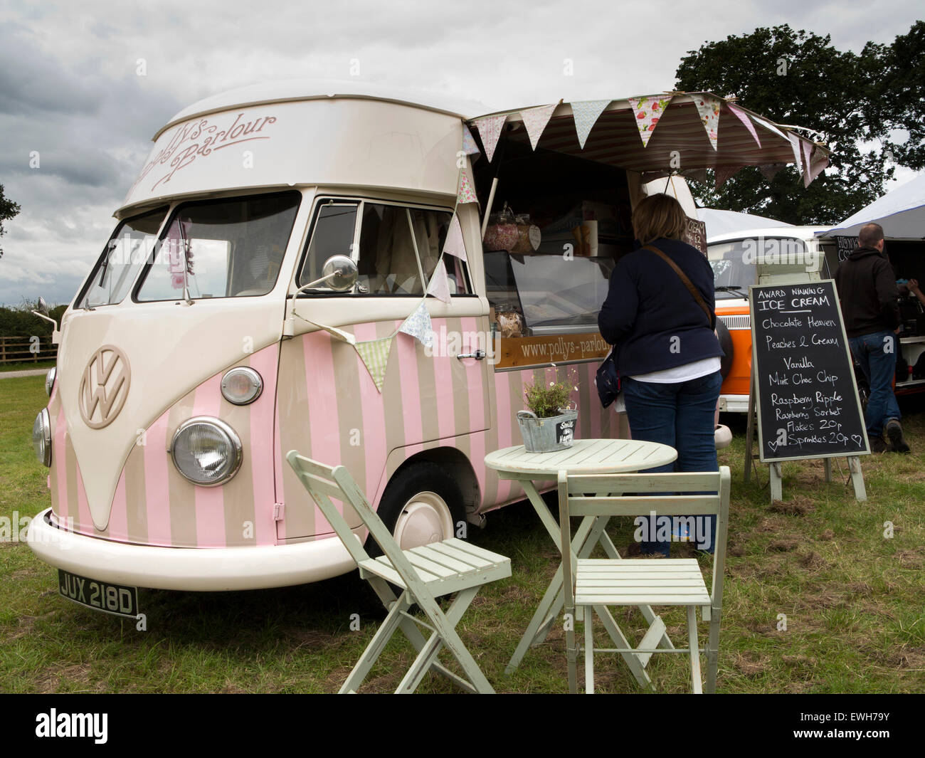 UK, England, Cheshire, Tabley, Cheshire Showground, Decorative Home & Salvage Show, Polly's Parlour mobile - Stock Image