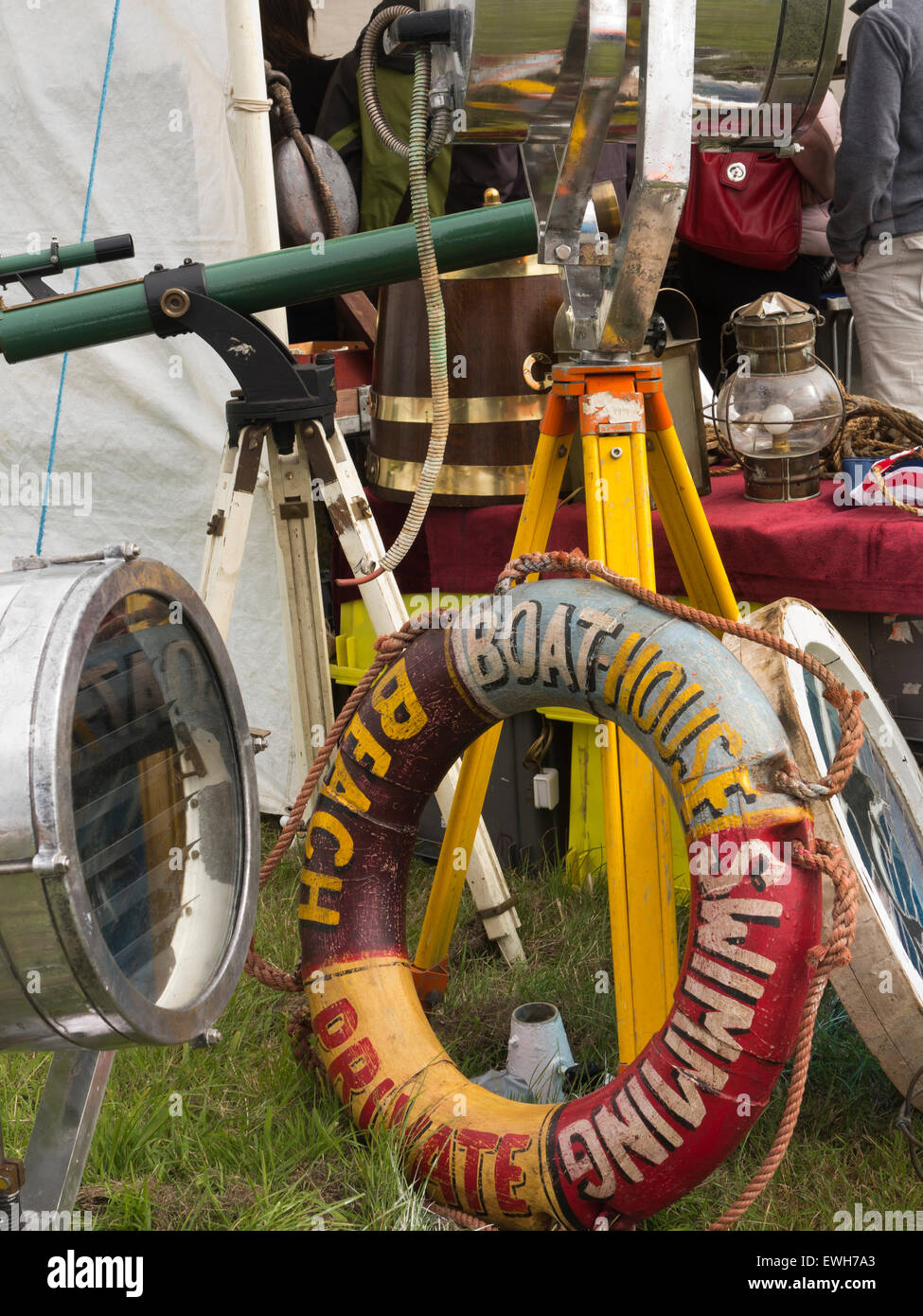 UK, England, Cheshire, Tabley, Cheshire Showground, Decorative Home & Salvage Show, stalls selling antiques, - Stock Image