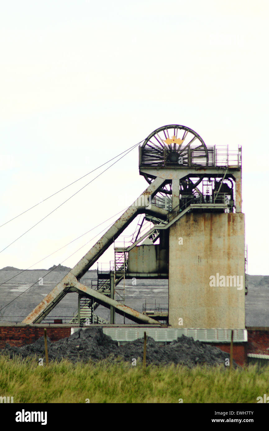 Thoresby Colliery, a Nottinghamshire pit owned by UK Coal that is scheduled to cease production in 2015 - Stock Image