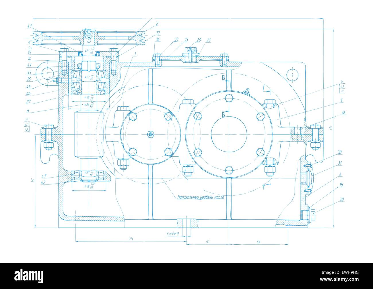 Vector background of abstract engineering drawing tech vector background of abstract engineering drawing tech documentation of detail reducer project blueprint design malvernweather Image collections
