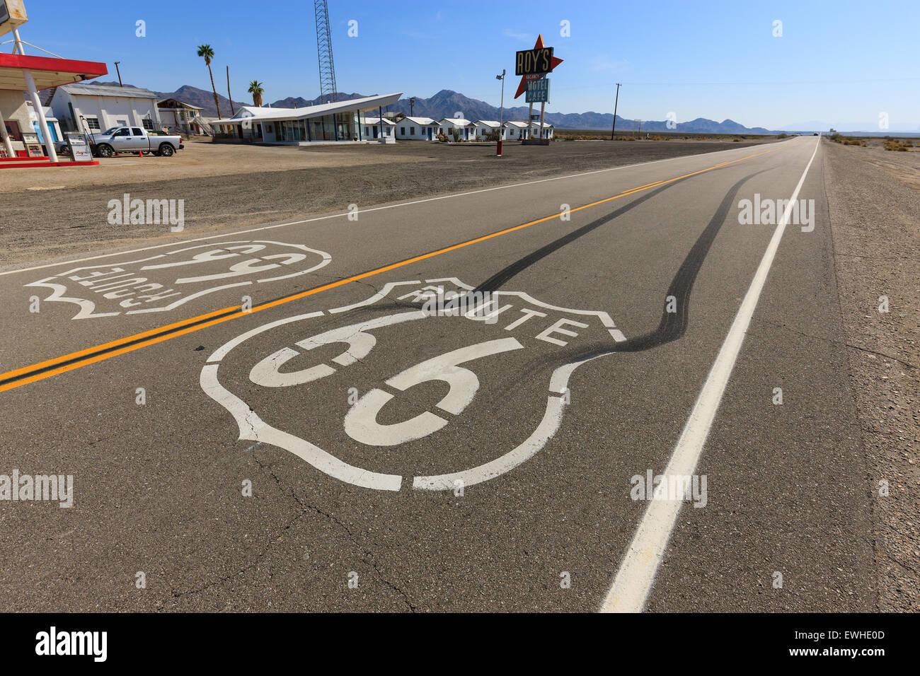 Amboy on Route 66, California, USA. - Stock Image