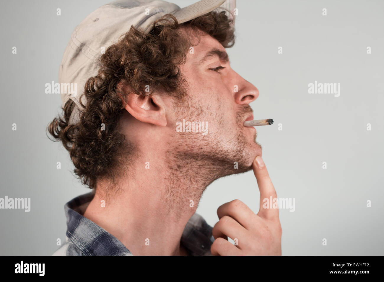 Enlightening redneck ironically has something important to say - Stock Image