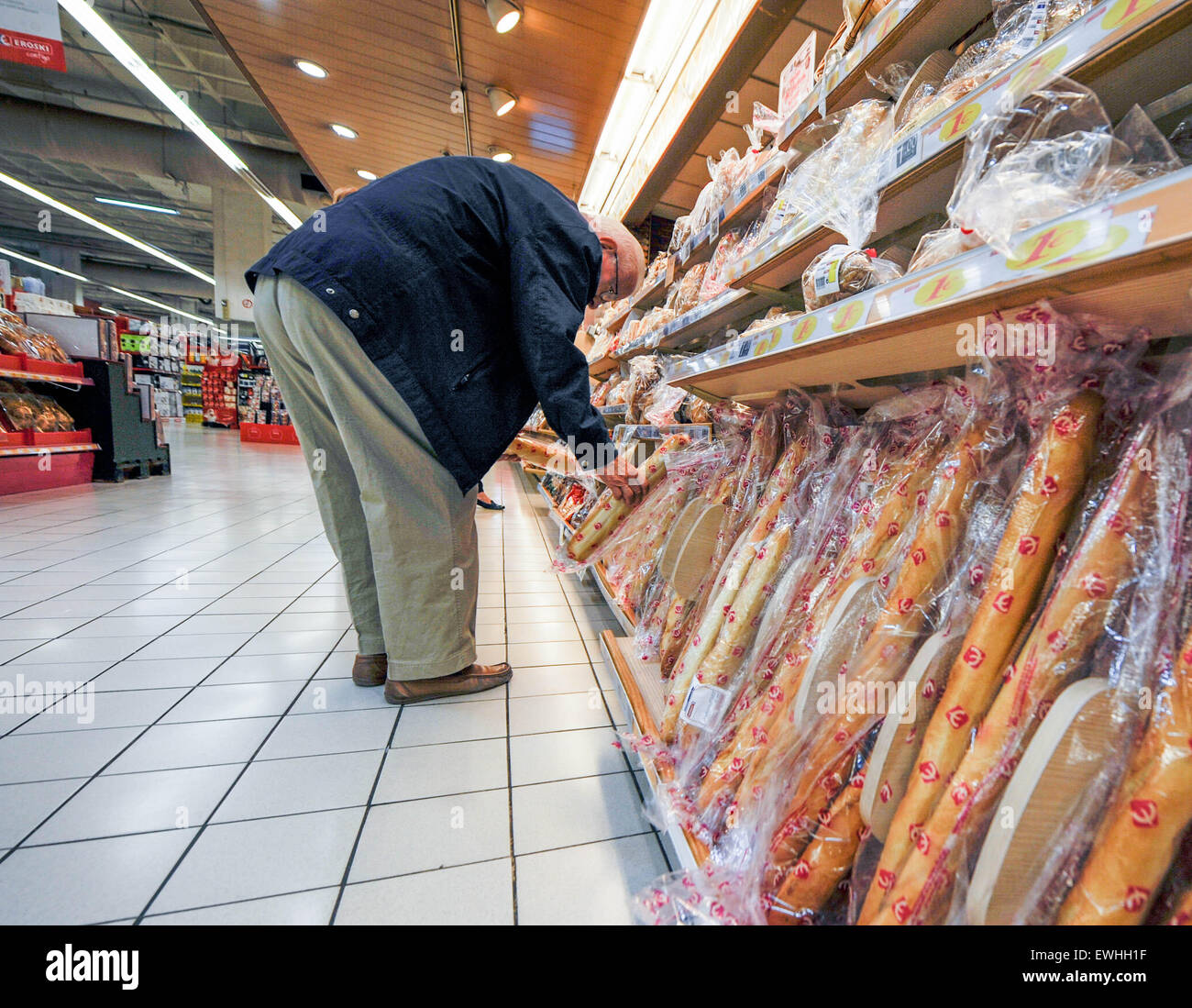 Bread in Eroski. Spain Málaga - Stock Image