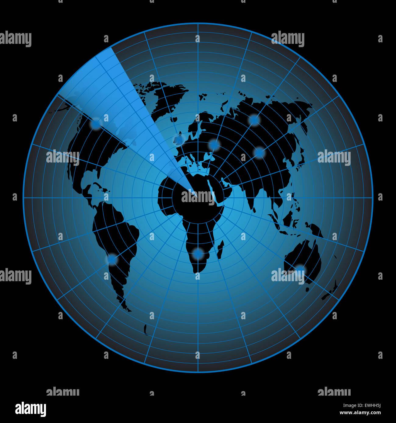 World Map Target on