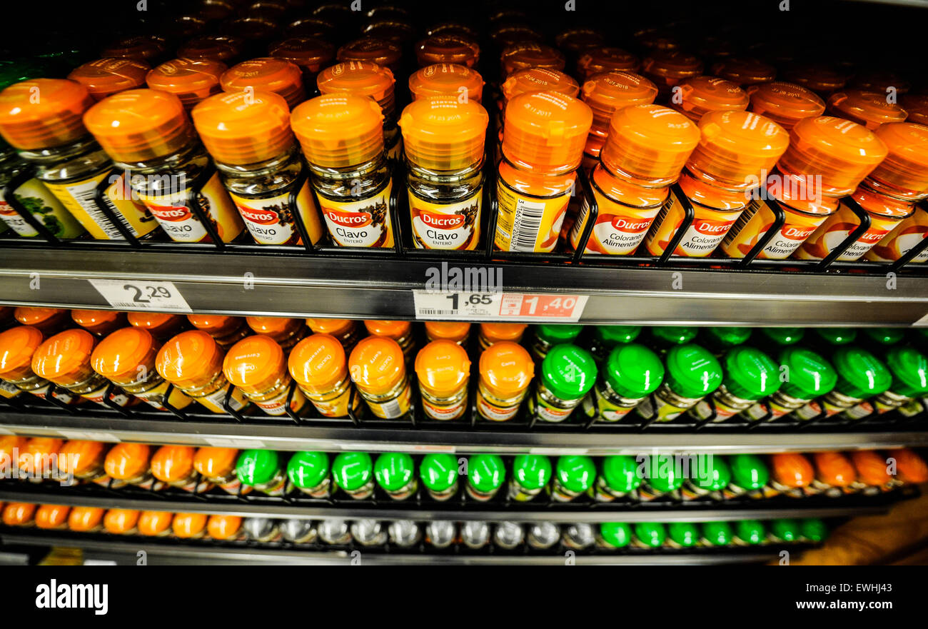 Ducros Condimentos Eroski Stock Photo