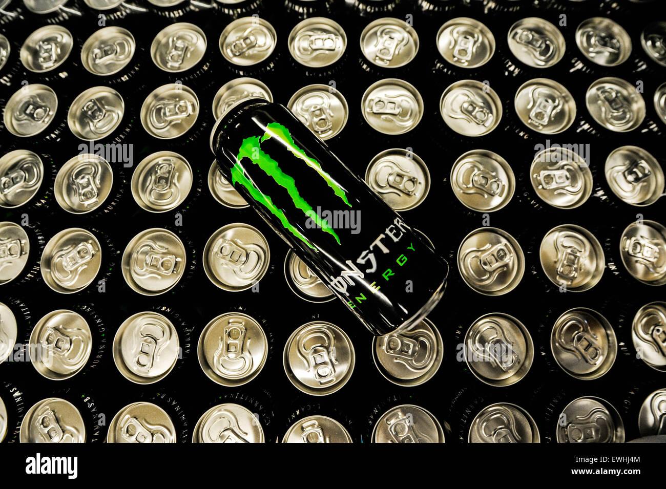 Monster energy Drink - Stock Image